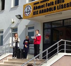 Ahmet Faik Edis Kız Anadolu Lisesi PISA'ya Katılacak..