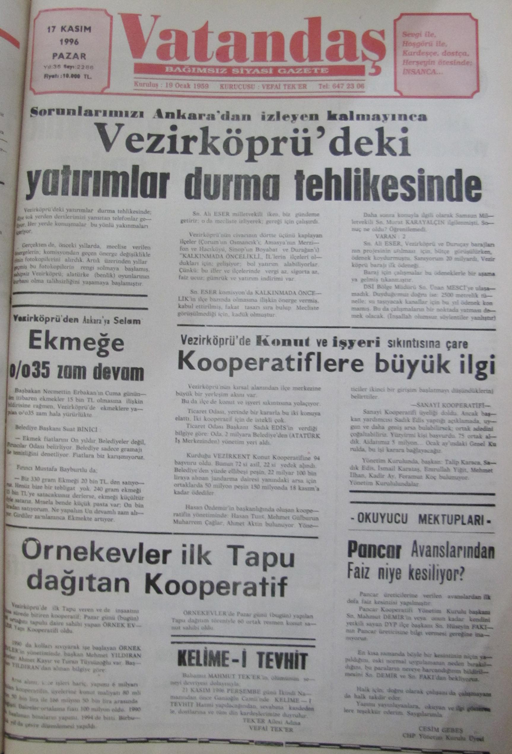 50 Yıl Önce 20 Kasım 1966