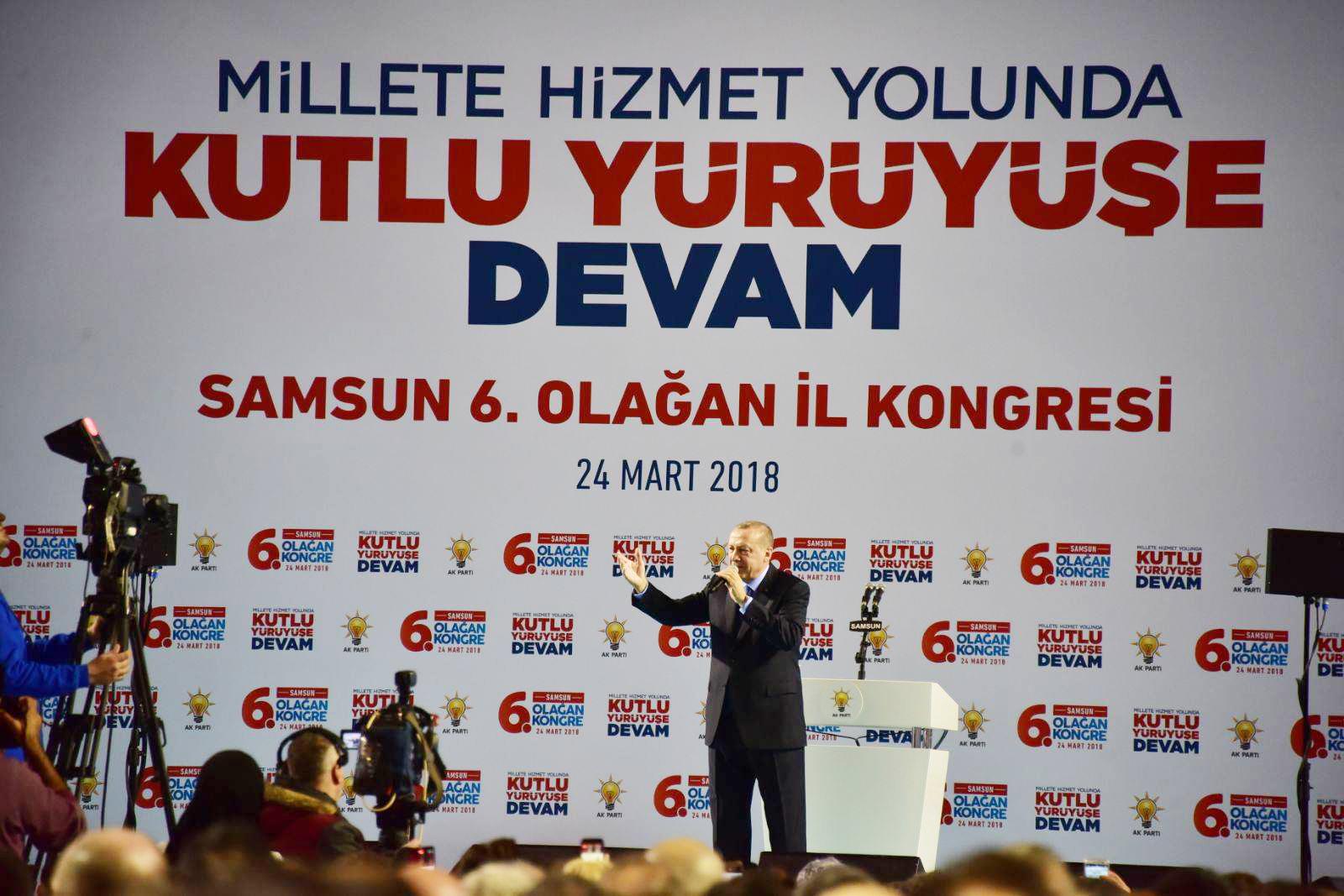AKP 6. Kongresi Samsun'da yapıldı.. Eski başkan İl yönetimine girdi