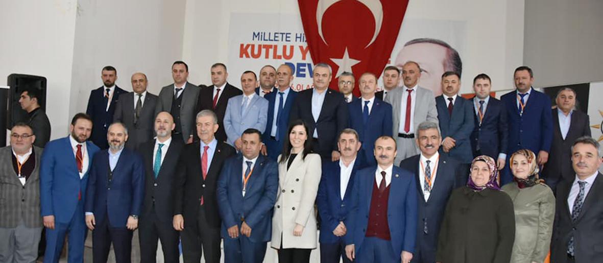 """AKP Vezirköprü İlçe Kongresine katılan Sağlık Bakanı Ahmet Demircan;  """"Hastane 2018'de Açılacak Havza yolu yapılacak.."""""""