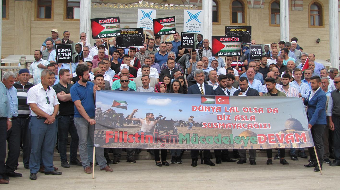"""Ak Parti İlçe Başkanı Mehmet Kurt;""""Kudüs'ü İsrail'in Başkenti Olarak Tanımayacağız"""""""