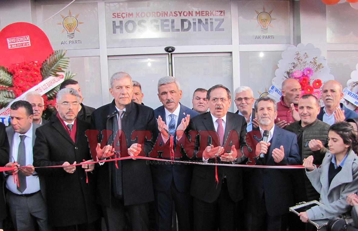 AK Parti Vezirköprü'de  Seçim Koordinasyon  Merkezini Açtı
