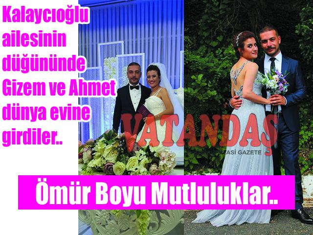 Kalaycıoğlu ailesinin düğününde Gizem ve Ahmet  dünya evine girdiler.. Ömür Boyu Mutluluklar..