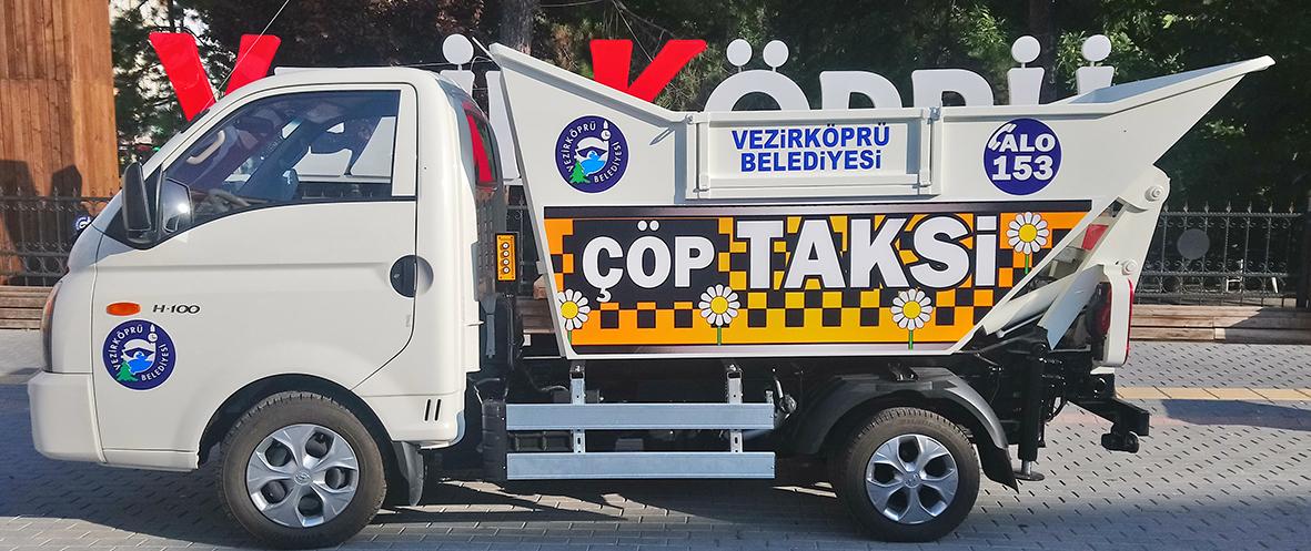 Vezirköprü Belediyesi Çöp Taksi'yi 2'ye Çıkarıyor