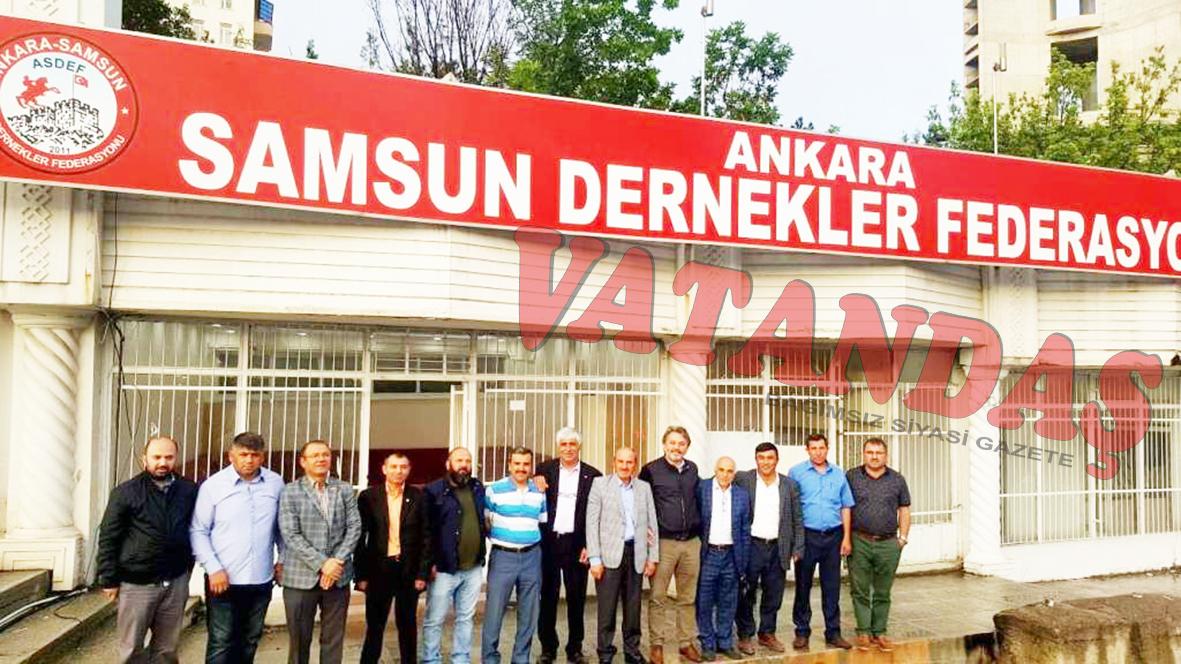 Ankara Samsun Dernekler Federasyonu (ASDEF)  Başkanı İbrahim Işık Cumhurbaşkanı Erdoğan'dan  Randevu Talep Etti