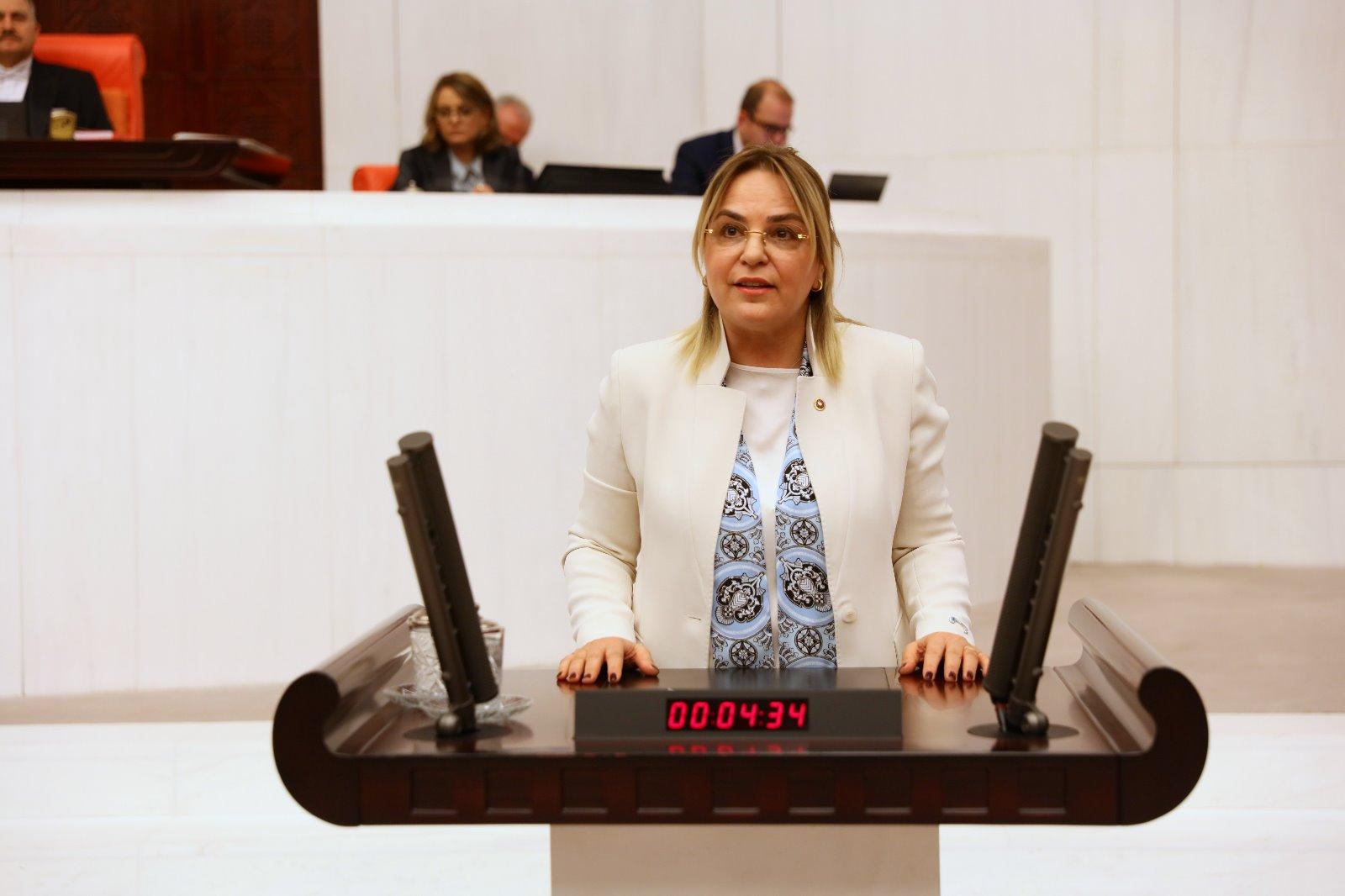 """CHP Samsun Milletvekili Neslihan HANCIOĞLU TBMM'de konuştu: """"Sahipsizliğin nasıl bir şey olduğunu Vezirköprü ilçemize gidin, gözlerinizle göreceksiniz."""""""