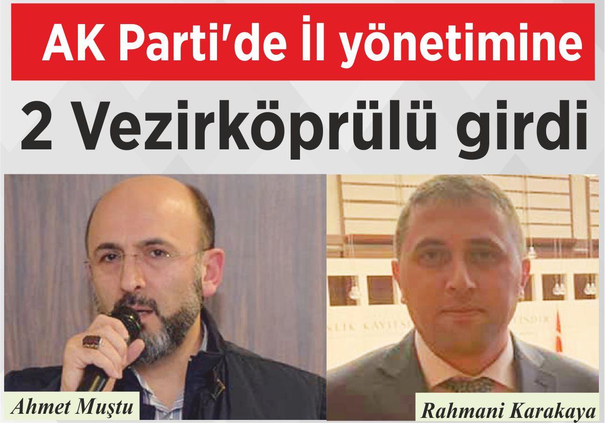 AK Parti'de İl yönetimine 2 Vezirköprülü girdi