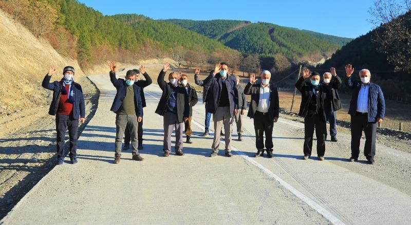 850 nüfusun yolu düzeltildi. Susuz Mahallesi yolu yapıldı